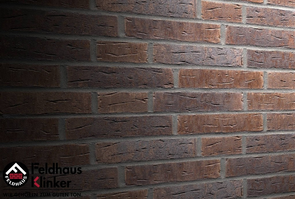"Клинкерная плитка ""Feldhaus Klinker"" для фасада и интерьера R669 sintra geo nelino"