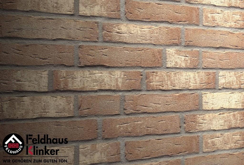"""Клинкерная плитка """"Feldhaus Klinker"""" для фасада и интерьера R677 sintra crema duna"""