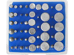 """Набор ЗУБР """"ПРОФЕССИОНАЛ"""": Мини-насадки с алмазным напылением в пластиковом боксе, Р 180, хвостовик 3мм, 50 предметов, фото 2"""