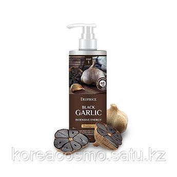 """Интенсивный шампунь от выпадения волос """"Чёрный чеснок"""" Deoproce shampoo Black Garlic intensive energy 1000мл"""