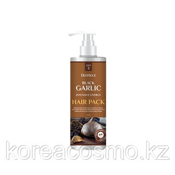 """Воссстанавливающая маска для волос """"Чёрный чеснок"""" Deoproce Black Garlic intensive energy hair pack 1000мл"""