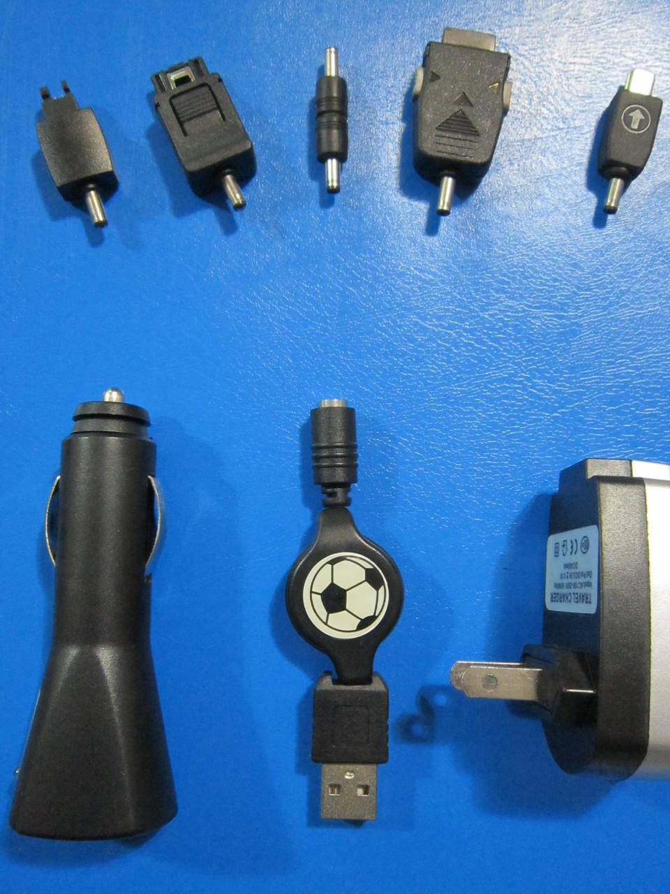 Мультизарядное устройство для мобильных телефонов  от  ОТ РОЗЕТКИ, АВТО-ПРИКУРИВАТЕЛЯ, USB (5 Разъёмов)