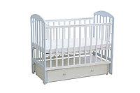 Кровать детская ФЕЯ 00-63118 белый-лазурь, фото 1