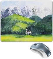"""Коврик для мышки """"Pad for Mouse с изображением """"Горный пейзаж"""",Dimensions:300mm x 250mm x 3mm"""""""