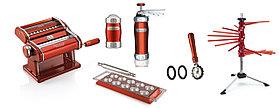 Marcato Pasta Set Le Cadeau Rosso,6 предметов Atlas 150,Dispenser,Biscuits,Tablet ravioli,Pastawheel,Tacapasta