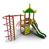 Детский игровой комплекс ИК-09 для улицы Размеры 5795х4835х4560мм