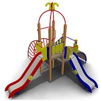Детский игровой комплекс для улицы ИК-15 Размеры 5410х5010х4060мм