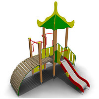Детский игровой комплекс для улицы ИК-11 Размеры 4245х3335х4060мм