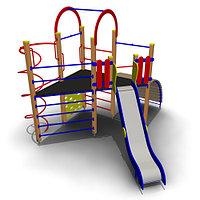 Детский игровой комплекс ИК-18 Размеры 4595х4160х3455мм