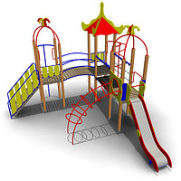 Детский игровой комплекс ИК-27 Размеры 6190х5720х4265мм