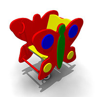 Детская Качалка на одинарной пружине «Бабочка» Размеры: 740 x 470 x 850мм
