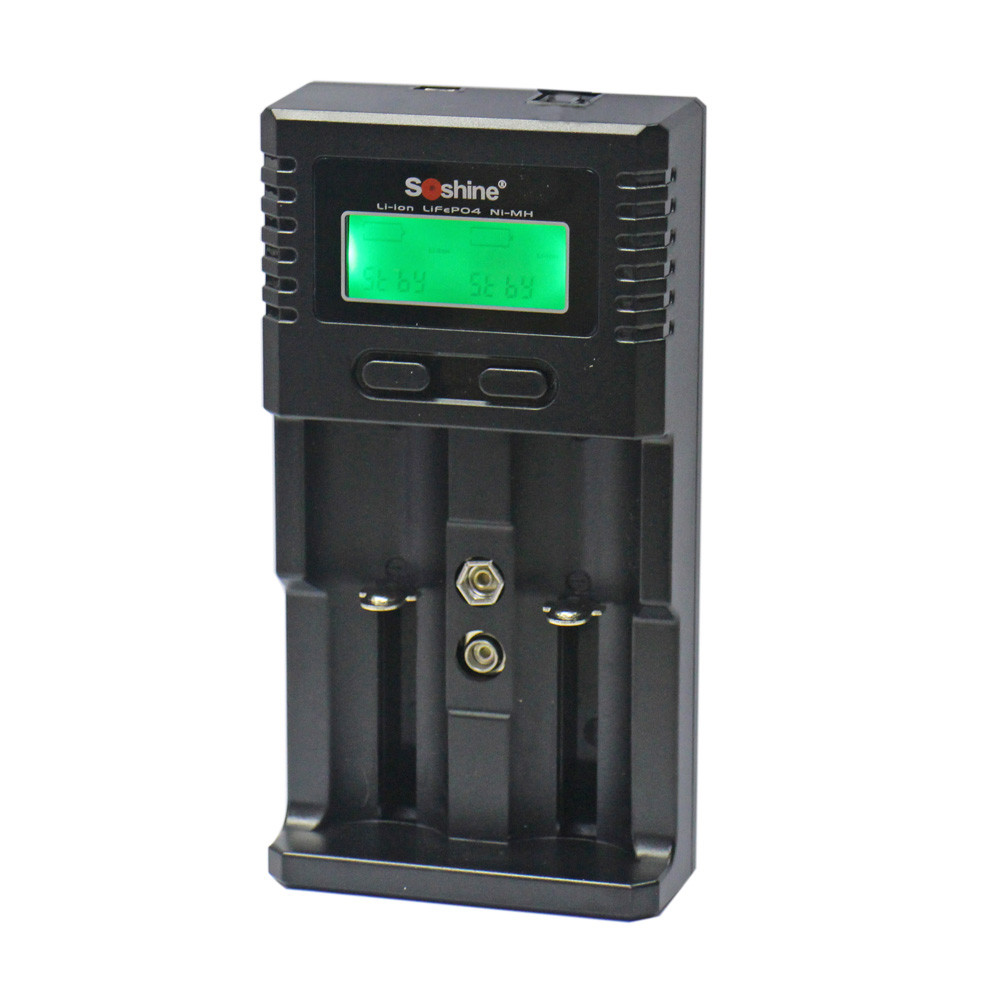 Зарядное устройство SoShine H2 универсальное (под любые Li-on/Ni-Mn/LiFePO4 аккумуляторы)
