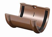Соединитель желобов 120 ⌀ коричневый , фото 1