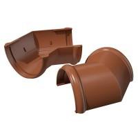 Угол 135°/120 ⌀ коричневый