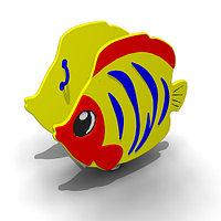 Детская Качалка на одинарной пружине «Рыбка» Размеры: 1010 x 470 x 1010мм