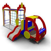 Детское Игровое оборудование «Пожарная машина» Размеры 4570х2270х2515мм