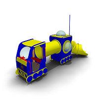 Детское уличное Игровое оборудование «Луноход» Размеры 5435х2145х3215мм еры: 2,84х2,4х1,96м