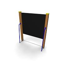 Детское Игровое оборудование «Доска для рисования» Размеры: 1505х230х1805мм