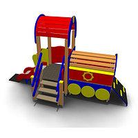 Детское Игровое оборудование «Паровоз с горкой» Размеры: 4400х1780х2700мм