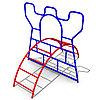 Детское Уличное Игровое оборудование Размеры: 1775х2200х1800мм