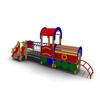 Детское Игровое оборудование «Паровоз»для улицы Размеры: 4400х1780х2700мм
