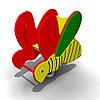 Детская Качалка на пружине «Пчелка» Размеры: 925 x 470 x 915мм
