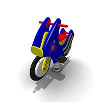 Детская Качалка на одинарной пружине «Мотоцикл» Размеры: 1015 x 410 x 765мм
