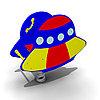 Детская Качалка на одинарной пружине «НЛО» Размеры: 890 x 450 x 875мм