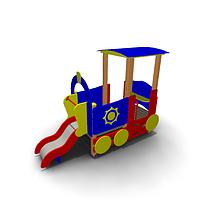 Детское Игровое оборудование «Паровозик» для улицы  Размеры 3195х1285х2265мм