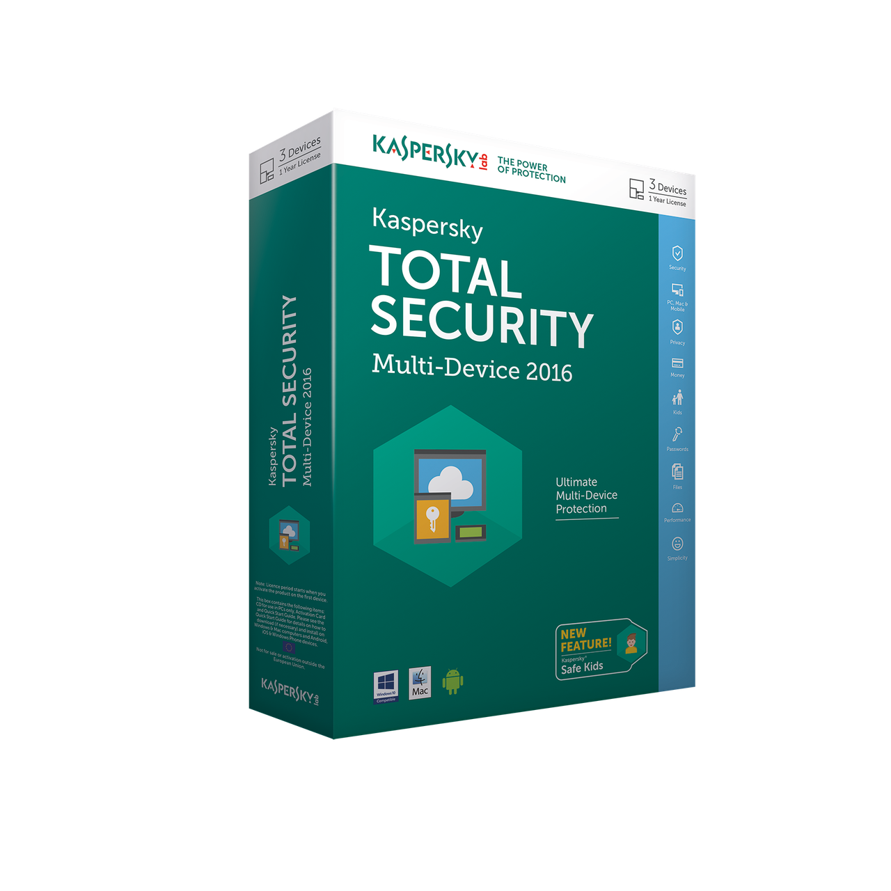 Kaspersky Internet Security 2017 Box 3-Desktop Base