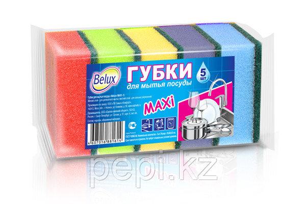 Губка для мытья посуды MAXI 5шт
