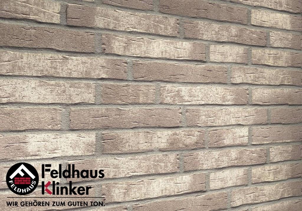 """Клинкерная плитка """"Feldhaus Klinker"""" для фасада и интерьера R682 sintra argo blanco"""