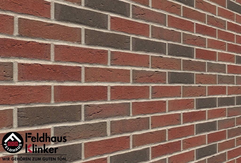 """Клинкерная плитка """"Feldhaus Klinker"""" для фасада и интерьера R689 sintra ardor"""