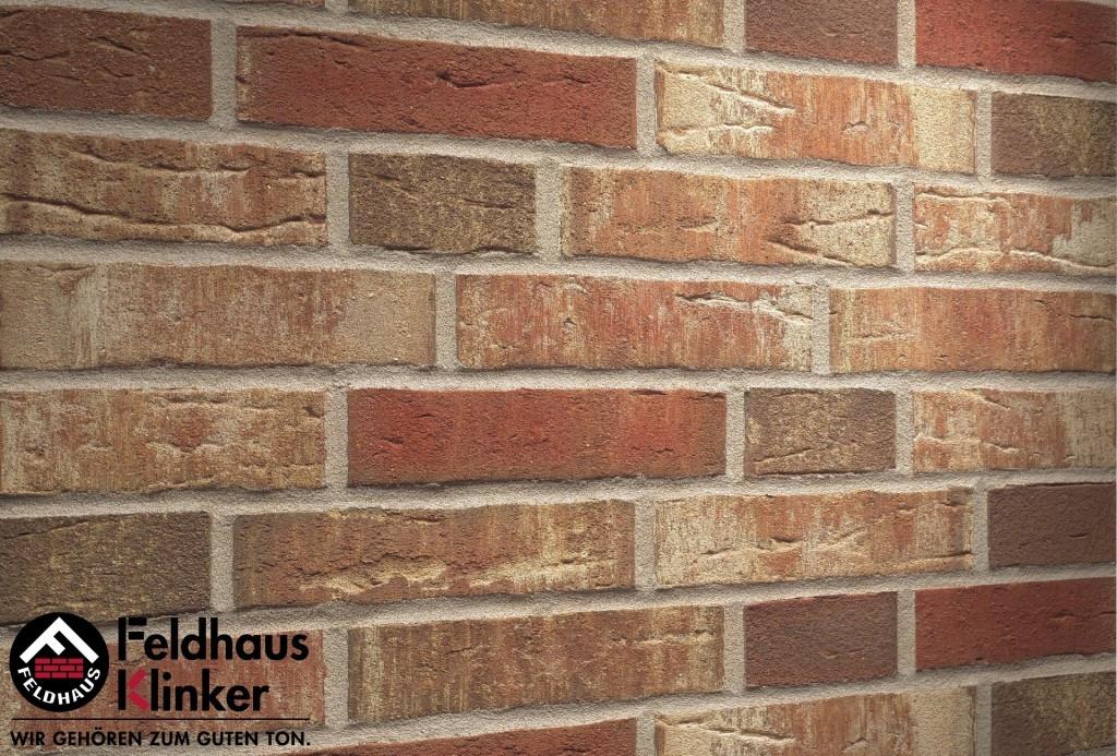 """Клинкерная плитка """"Feldhaus Klinker"""" для фасада и интерьера R690 sintra ardor blanca"""
