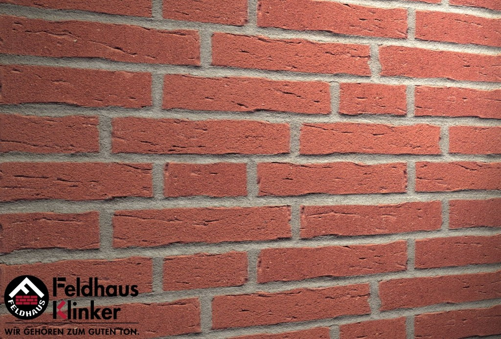 """Клинкерная плитка """"Feldhaus Klinker"""" для фасада и интерьера R694 sintra carmesi"""