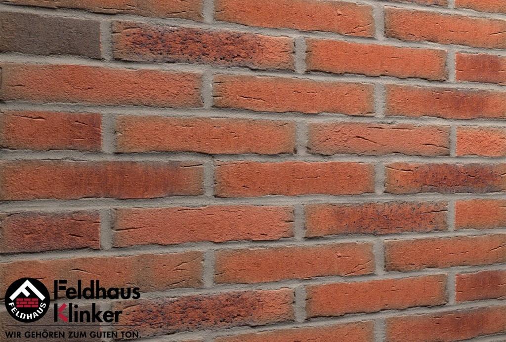 """Клинкерная плитка """"Feldhaus Klinker"""" для фасада и интерьера R698 sintra terracotta bario"""