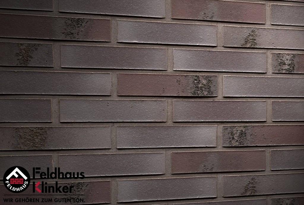 """Клинкерная плитка """"Feldhaus Klinker"""" для фасада и интерьера R565 carbona geo ferrum"""