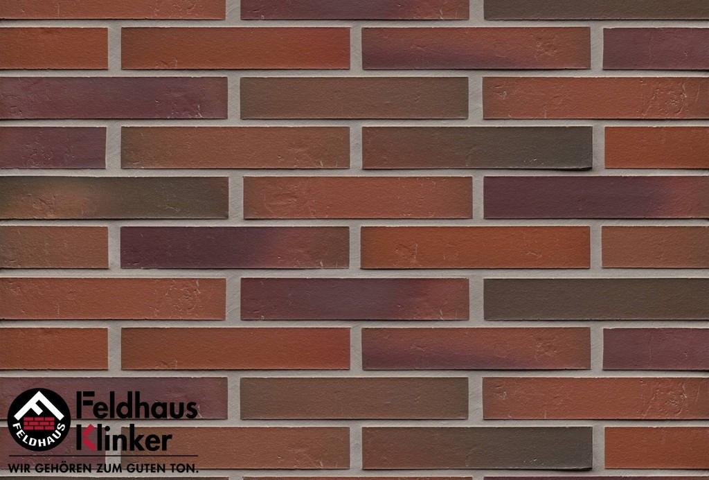 """Клинкерная плитка """"Feldhaus Klinker"""" для фасада и интерьера R714 accudo carmesi bluastro"""