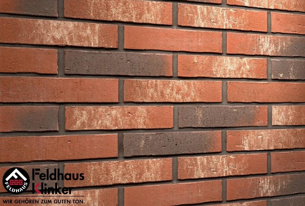 """Клинкерная плитка """"Feldhaus Klinker"""" для фасада и интерьера R725 vascu"""