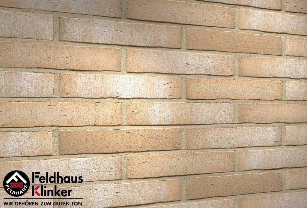 """Клинкерная плитка """"Feldhaus Klinker"""" для фасада и интерьера R730 vascu crema bora"""