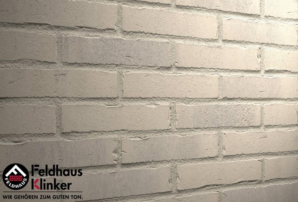 """Клинкерная плитка """"Feldhaus Klinker"""" для фасада и интерьера R732 vascu crema toccata"""