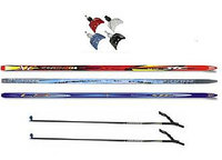 Лыжный комплект беговые лыжи, палки, крепления NN 75, 100-140 см