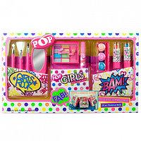 POP Игровой набор детской декоративной косметики с поясом визажиста