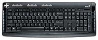 "Клавиатура ""Genius KB-350 Desktop Keyboard With Palm Rest,Multimedia,eng / rus / kaz,Black&Silver,USB"""