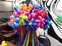 Разноцветные цветочки из шаров на 8 марта, фото 1