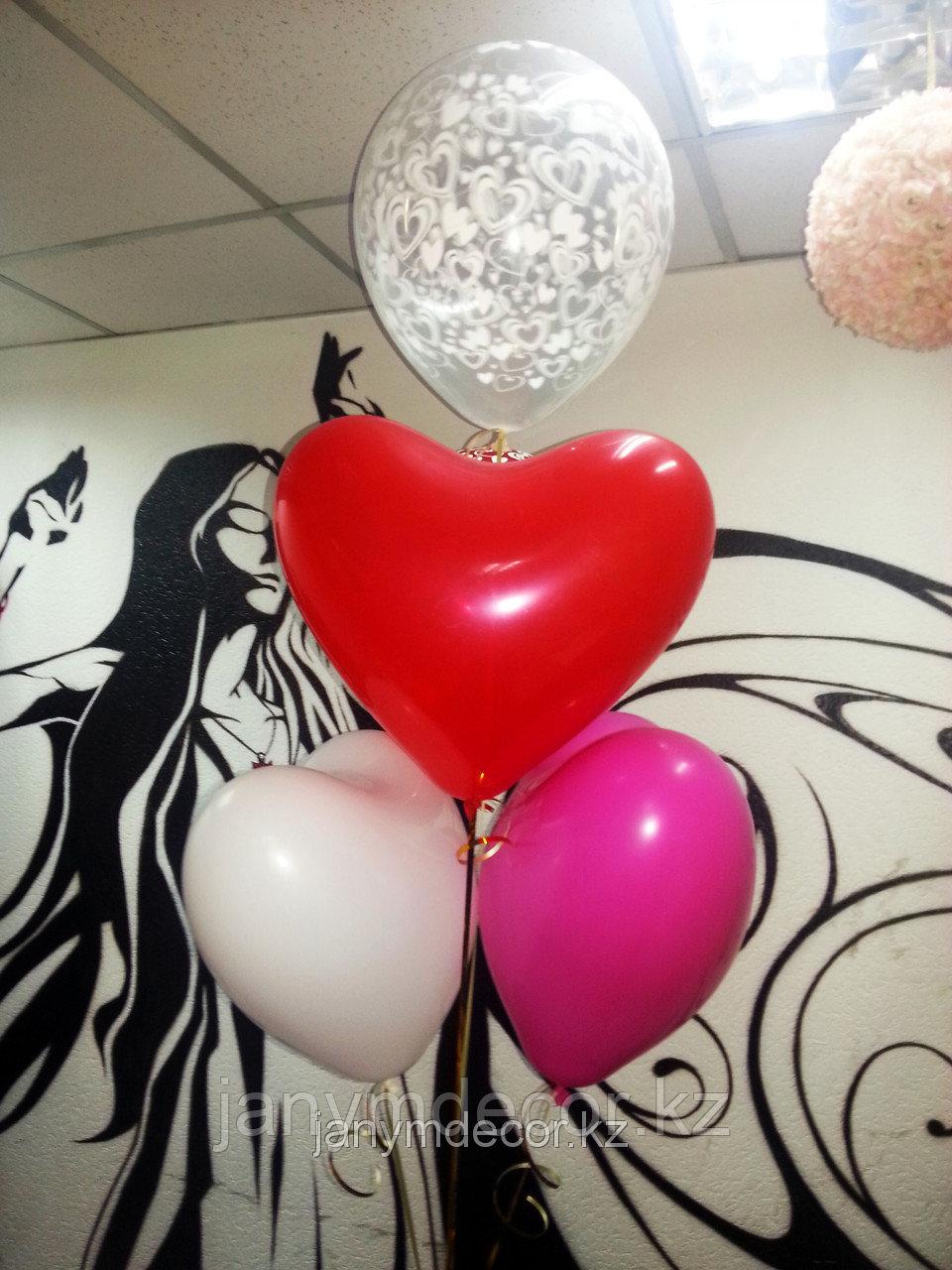 Гелиевые сердца к 8 марта - фото 1