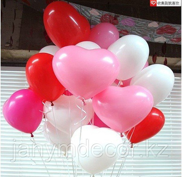 Гелиевые сердца к 8 марта - фото 3