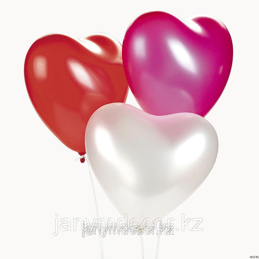 Гелиевые сердца к 8 марта - фото 5