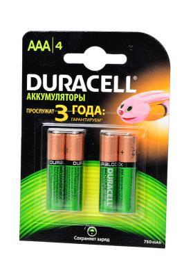 Аккумуляторы HR03/AAA Duracell (Ni-MH) 750 mAh