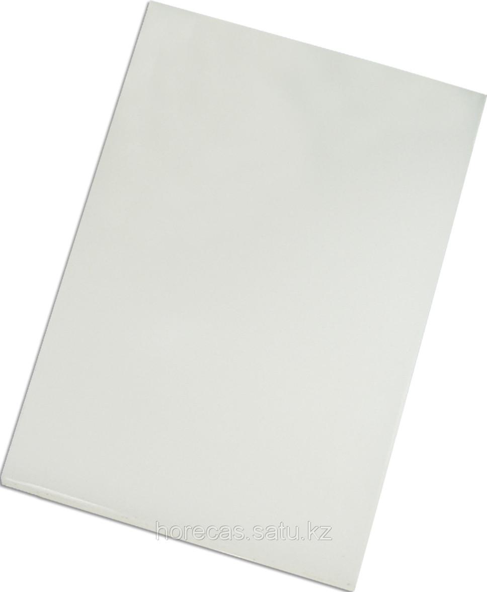 Доска разделочная 500х350х18 белый полипропилен